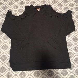 Mission Supply Co Cold Shoulder Sweatshirt